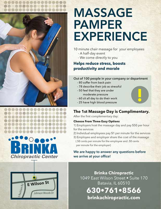 Chiropractic Batavia IL Corporate Events Flyer