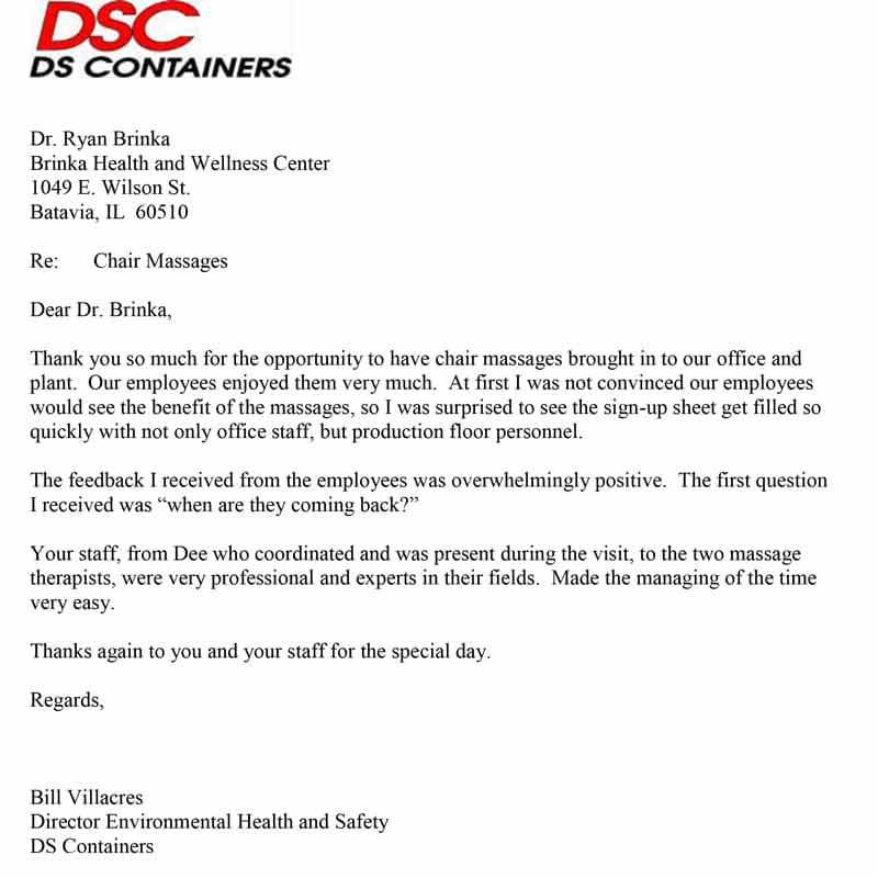 Chiropractic Batavia IL DSC Letter